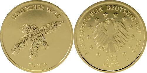 Lieferumfang:Deutschland : 20 Euro Fichte  2012 Stgl.