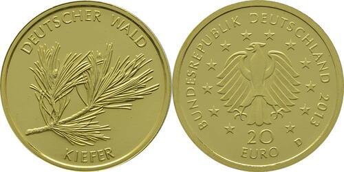 Lieferumfang:Deutschland : 20 Euro Kiefer Buchstabe unserer Wahl  2013 Stgl.