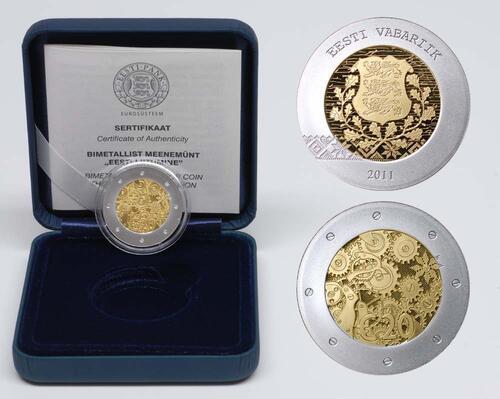 Lieferumfang:Estland : 20 Euro Estlands Beitritt zum Euro  2011 PP