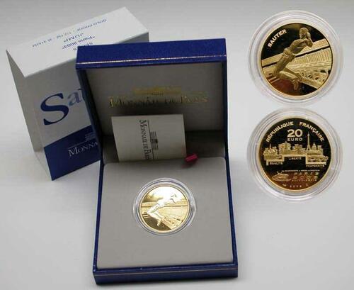 Lieferumfang:Frankreich : 20 Euro Motiv : Springen  2003 PP
