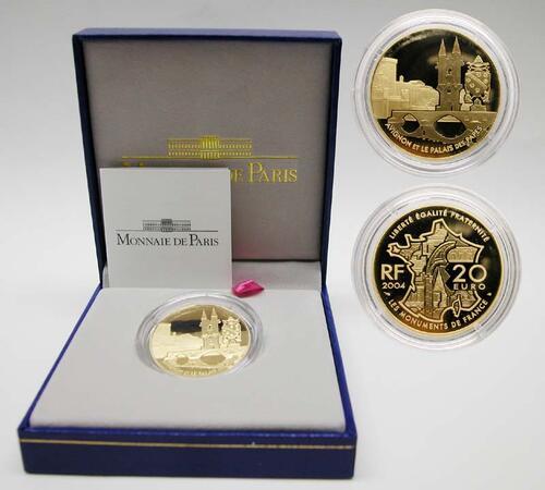 Lieferumfang:Frankreich : 20 Euro Papstpalast Avignon, inkl. Originaletui und Zertifikat  2004 PP
