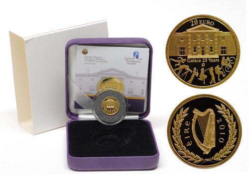 Lieferumfang:Irland : 20 Euro 25 Jahre Gaisce/The President's Award inkl. Originaletui und Zertifikat  2010 PP