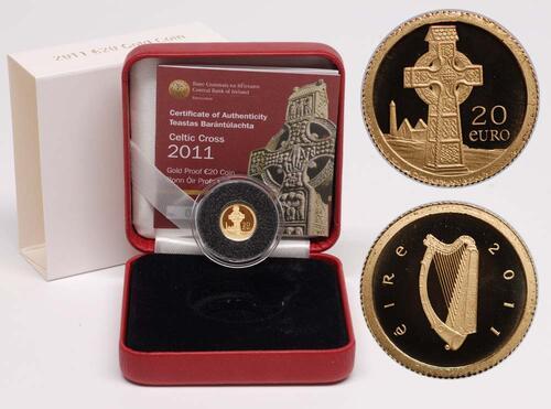 Lieferumfang:Irland : 20 Euro Keltisches Kreuz  2011 PP