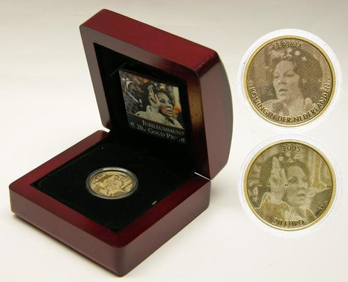 Lieferumfang:Niederlande : 20 Euro Jubiläum Beatrix  2005 PP