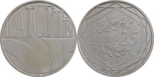 Lieferumfang:Frankreich : 25 Euro Säkularismus  2013 Stgl.
