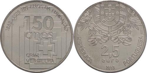 Lieferumfang:Portugal : 2,5 Euro 150 Jahre Rotes Kreuz  2013 vz/Stgl.