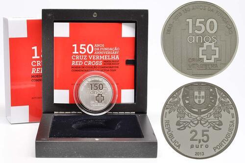 Lieferumfang:Portugal : 2,5 Euro 150 Jahre Rotes Kreuz  2013 PP