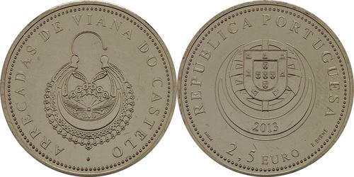 Lieferumfang:Portugal : 2,5 Euro Die Ohrringe Viana do Castelos  2013 Stgl.
