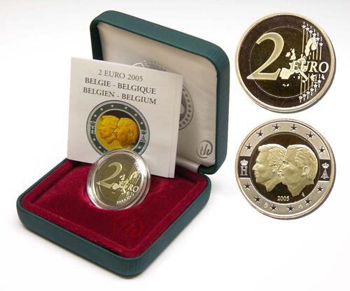 Lieferumfang:Belgien : 2 Euro Henri und Albert II.  2005 PP