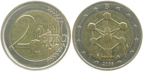 Lieferumfang:Belgien : 2 Euro Atomium Brüssel  2006 bfr