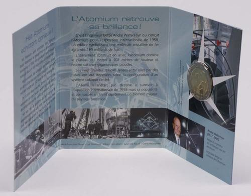 Lieferumfang:Belgien : 2 Euro Atomium Brüssel im Blister  2006 Stgl.