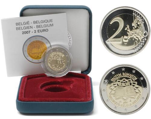 Lieferumfang:Belgien : 2 Euro Römische Verträge  2007 PP