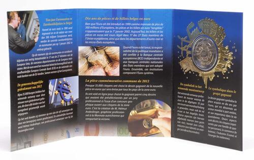 Lieferumfang:Belgien : 2 Euro 10 Jahre Euro Bargeld  2012 Stgl.