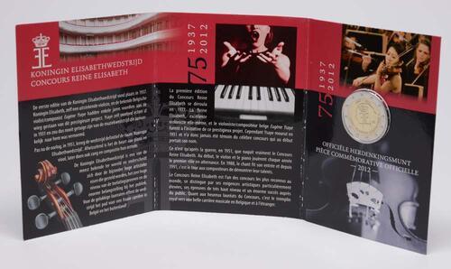 Lieferumfang:Belgien : 2 Euro 75 J. Königin-Elisabeth Internationaler Musikwettbewerb  2012 Stgl.
