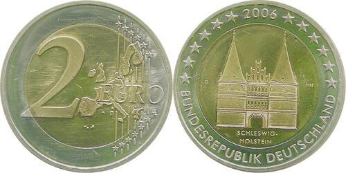 Lieferumfang:Deutschland : 2 Euro Holstentor Lübeck  2006 bfr 2 Euro Deutschland 2006; 2 Euro Holstentor