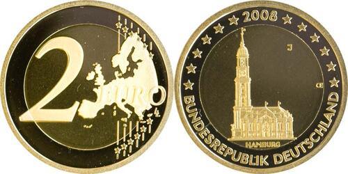 Lieferumfang:Deutschland : 2 Euro Hamburger Michel  2008 bfr