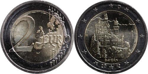 Lieferumfang:Deutschland : 2 Euro Schloss Neuschwanstein  2012 bfr