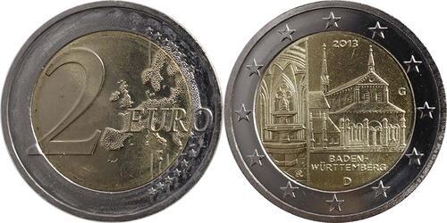 Lieferumfang:Deutschland : 2 Euro Baden Württemberg - Zisterzienserkloster Maulbronn  2013 Stgl.