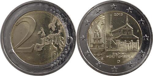 Lieferumfang:Deutschland : 2 Euro Baden Württemberg - Zisterzienserkloster Maulbronn  2013 bfr