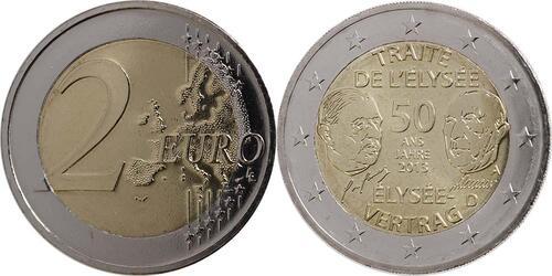 Lieferumfang:Deutschland : 2 Euro Elysée-Vertrag  2013 bfr