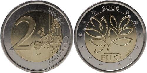 Lieferumfang:Finnland : 2 Euro EU-Erweiterung  2004 bfr