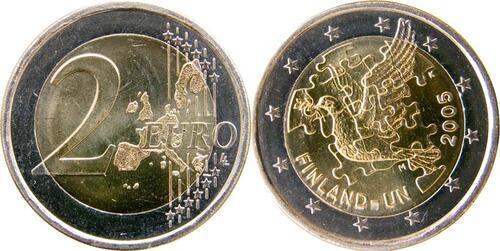 Lieferumfang:Finnland : 2 Euro Uno  2005 bfr