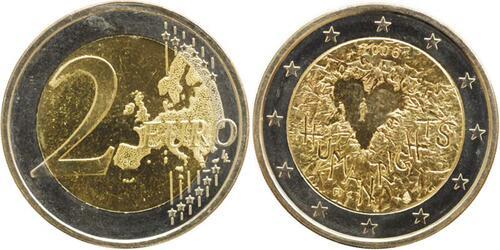 Lieferumfang:Finnland : 2 Euro Menschenrechte  2008 bfr 2 Euro Menschenrechte Finnland