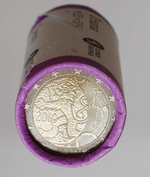 Lieferumfang:Finnland : 2 Euro 150 Jahre Finnische Währung in Originalrolle - 25 Stücke  2010 Stgl.