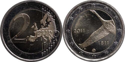 Lieferumfang:Finnland : 2 Euro 200 Jahre finnische Bank  2011 bfr