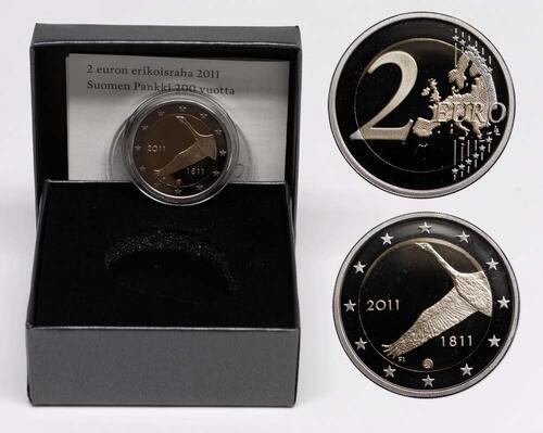 Lieferumfang:Finnland : 2 Euro 200 Jahre finnische Bank  2011 PP