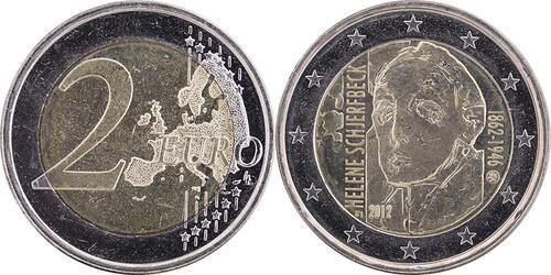 Lieferumfang:Finnland : 2 Euro Helene Schjerfbeck  2012 bfr