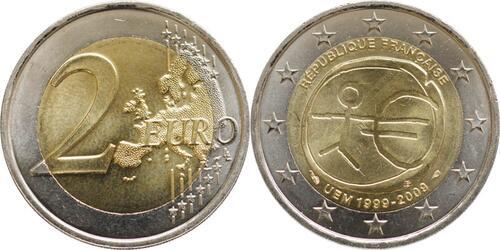 Lieferumfang:Frankreich : 2 Euro 10 Jahre Euro  2009 bfr