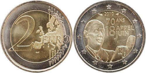 Lieferumfang:Frankreich : 2 Euro Appell des 18. Juni 1940  2010 bfr