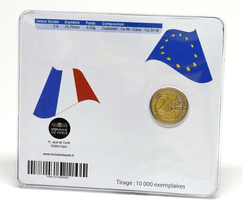 Lieferumfang:Frankreich : 2 Euro 10 Jahre Euro Bargeld  2012 Stgl.