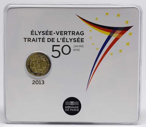 Lieferumfang:Frankreich : 2 Euro 50 Jahre Elysée-Vertrag  2013 Stgl.