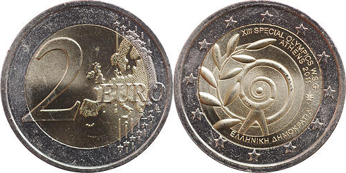 Lieferumfang:Griechenland : 2 Euro Special Olympics  2011 bfr