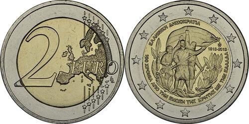 Lieferumfang:Griechenland : 2 Euro 100 Jahre Vereinigung Kreta mit Griechenland  2013 bfr