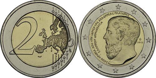 Lieferumfang:Griechenland : 2 Euro Platon Akademie  2013 bfr