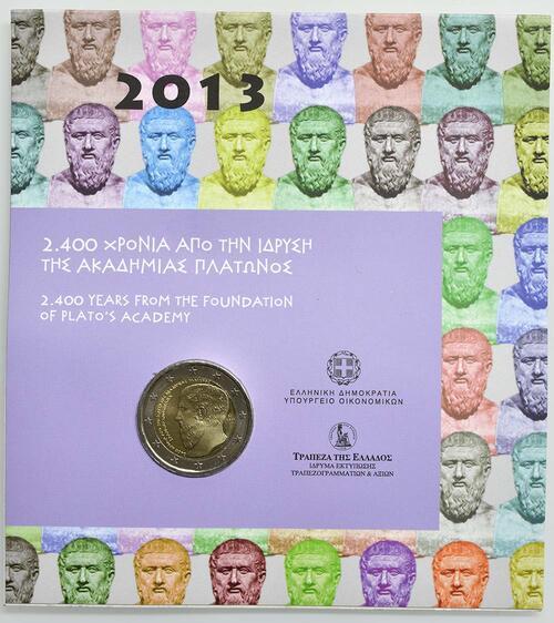 Lieferumfang:Griechenland : 2 Euro Platon Akademie  2013 Stgl.