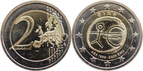 Lieferumfang:Irland : 2 Euro 10 Jahre Euro  2009 bfr