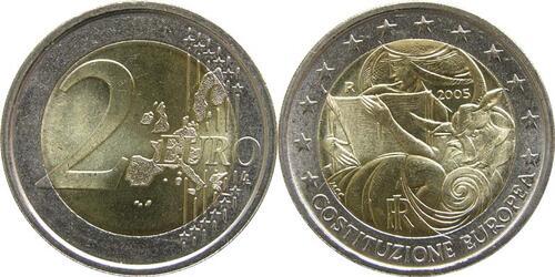 Lieferumfang:Italien : 2 Euro Europäische Verfassung  2005 bfr