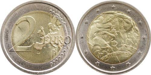 Lieferumfang:Italien : 2 Euro Menschenrechte  2008 bfr 2 Euro Menschenrechte