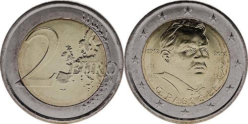 Lieferumfang:Italien : 2 Euro 100. Todestag Giovanni Pascoli  2012 bfr