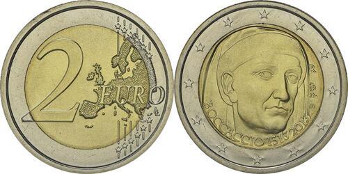 Lieferumfang:Italien : 2 Euro Giovanni Boccaccio  2013 bfr