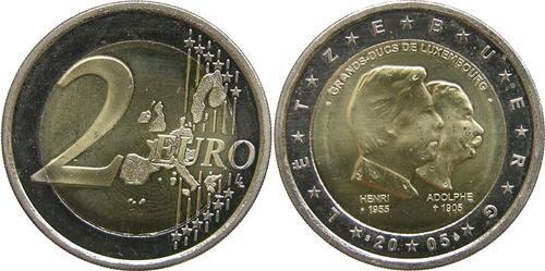 Lieferumfang:Luxemburg : 2 Euro Henri und Adolphe  2005 bfr