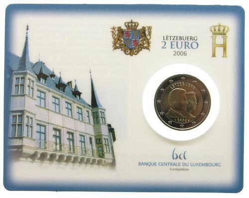 Lieferumfang:Luxemburg : 2 Euro 25. Geburtstag von Erbgroßherzog Guillaume  2006 Stgl. 2 Euro Luxemburg Coincard 2006