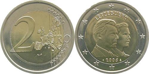 Lieferumfang:Luxemburg : 2 Euro 25. Geburtstag von Erbgroßherzog Guillaume  2006 bfr 2 Euro Luxemburg 2006