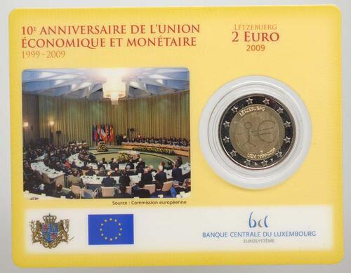 Lieferumfang:Luxemburg : 2 Euro 10 Jahre Euro  2009 Stgl.