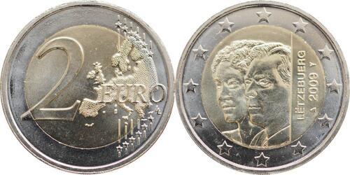 Lieferumfang:Luxemburg : 2 Euro Henri und Charlotte  2009 bfr 2 Euro Luxemburg 2009