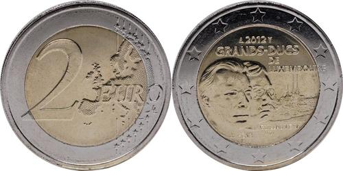 Lieferumfang:Luxemburg : 2 Euro Guillaume IV  2012 bfr